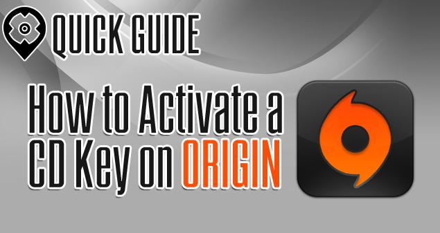 Activate a CD Key on Origin 0127