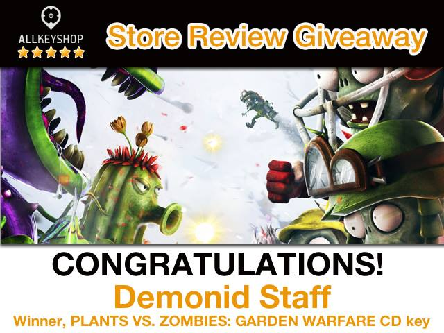 Store Review Giveaway Winner: Demonid Staff