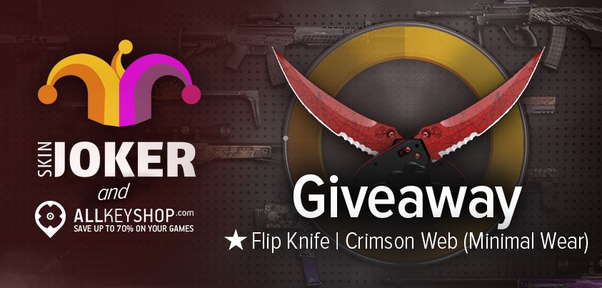 Giveaway with SkinJoker.com: 1 CSGO Skin Flip Knife Crimson Web
