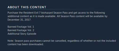 Resident Evil 7 Biohazard About This Content