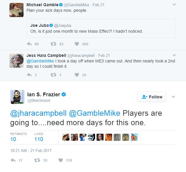 Mass Effect Andromeda Tweet