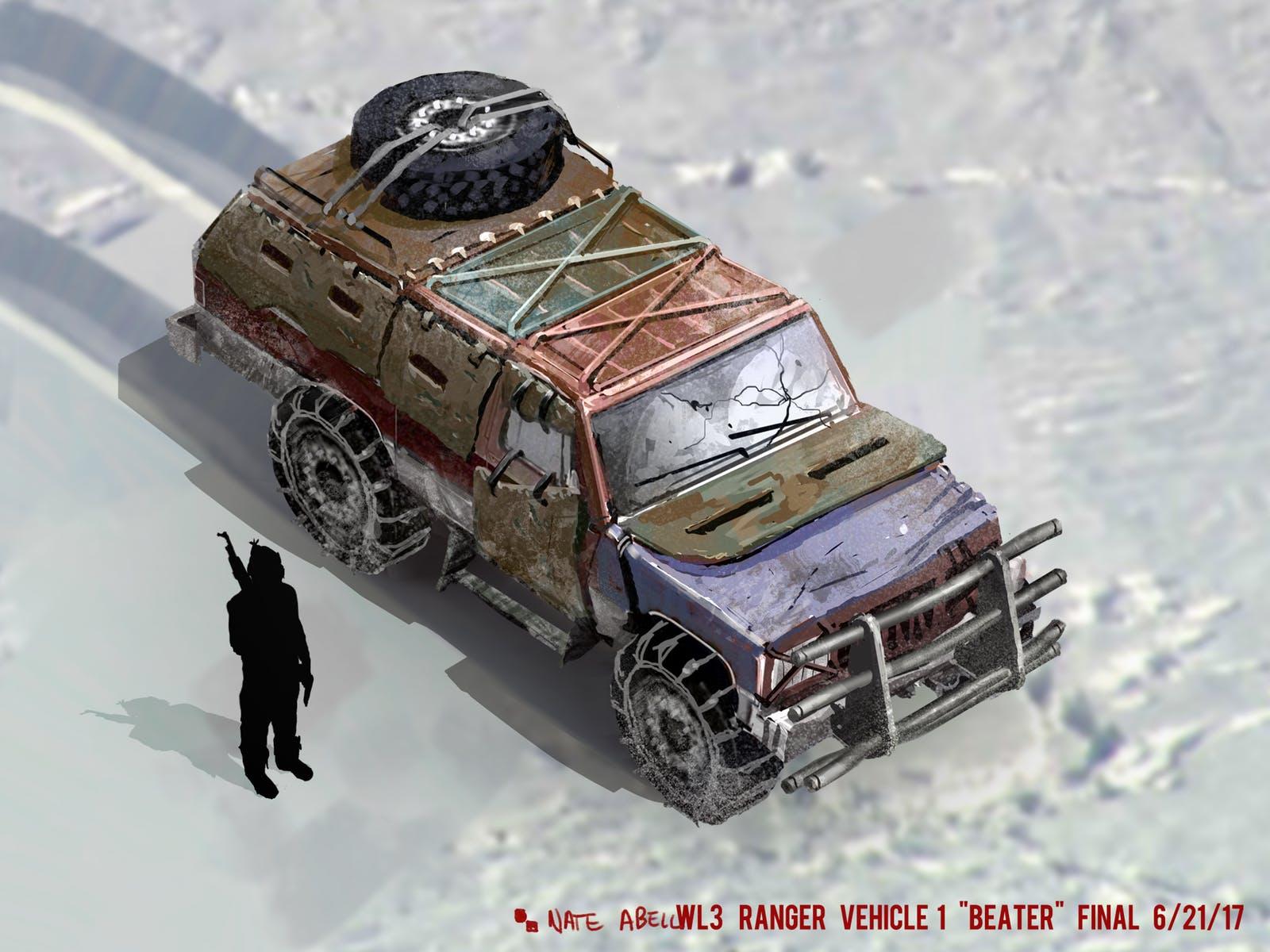 Wasteland 3 WL3 Ranger Vehicle Beater