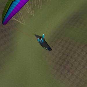 Gliding above the mountain