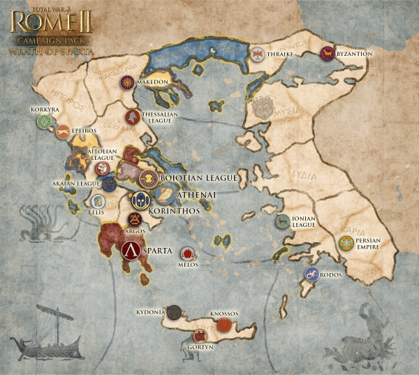 Total War Rome 2 Wrath of Sparta Campaign_Map