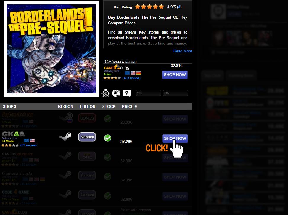 Buy Borderlands The Pre Sequel CD KEY Compare Prices