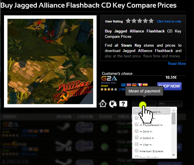 Buy Jagged Alliance Flashback CD KEY Compare Prices