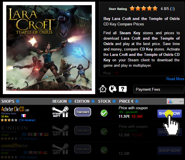 Buy Lara Croft and the Temple of Osiris CD KEY Compare Prices