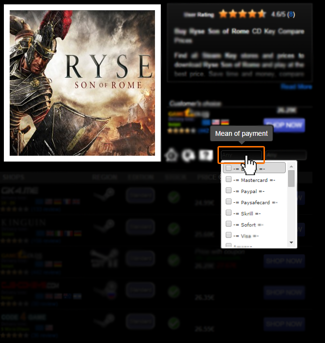 Buy Ryse Son of Rome CD KEY Compare Prices