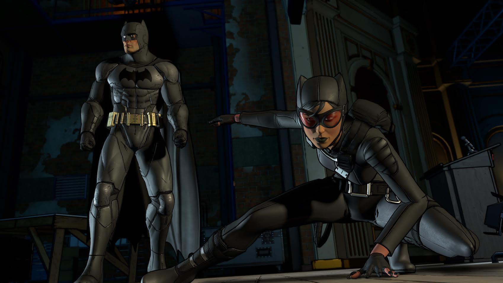 Batman The Telltale Series batman and catwoman