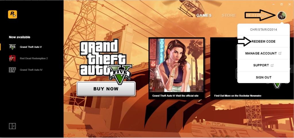 Rockstar Games Launcher REDEEM CODE