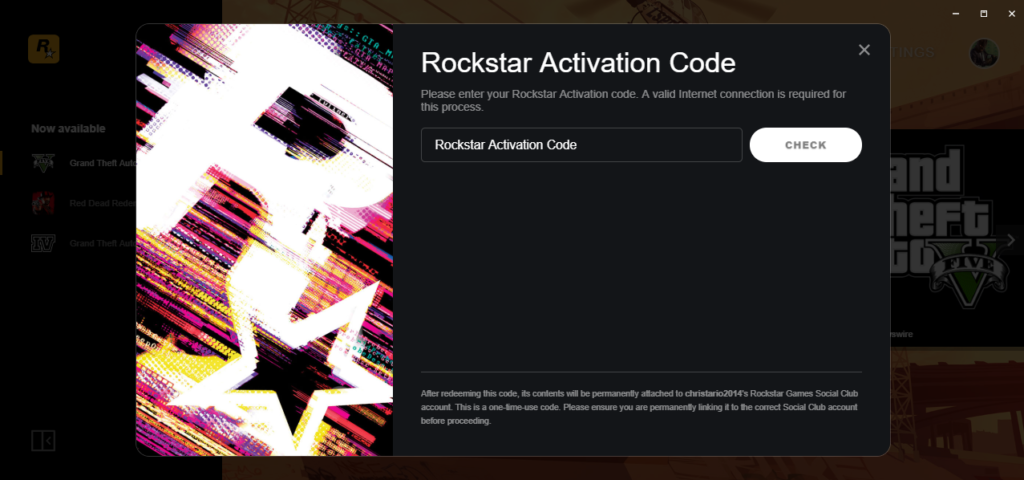 Rockstar Games Launcher ACTIVATION CODE