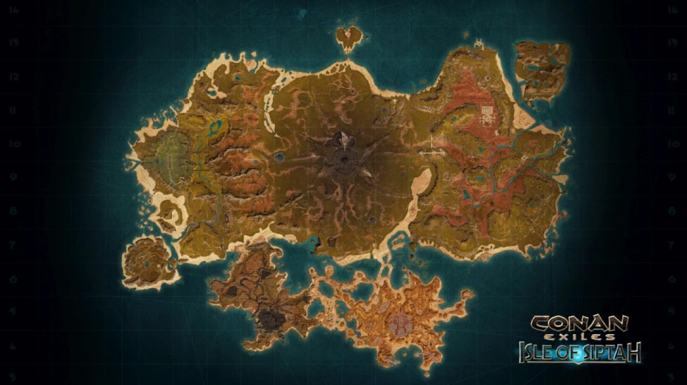 Conan Exiles Isle of Siptah Map