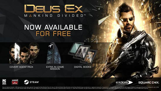 Deus Ex Mankind Divided Now Available
