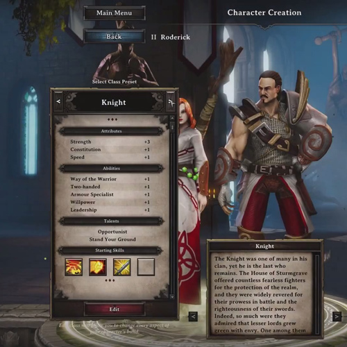 Divinity Original Sin PS4 Character Creation