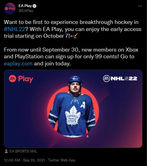 EA Play on Twitter