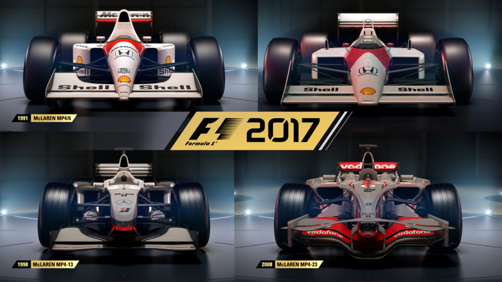 the f1 2017 classic cars list is completed with the mclarens. Black Bedroom Furniture Sets. Home Design Ideas