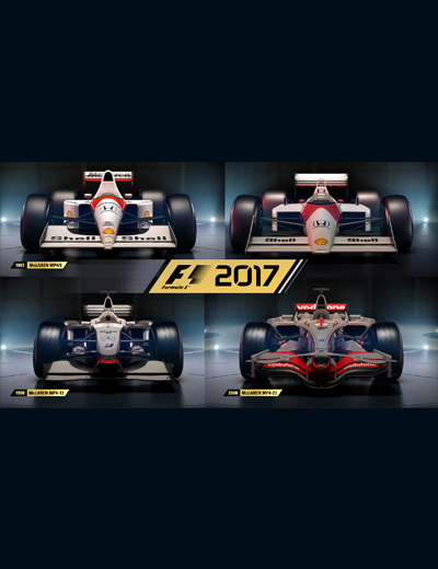 F1 2017 Classic Cars List Now Complete With the Addition of McLarens!