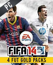 FIFA 14 4 FUT Gold Packs