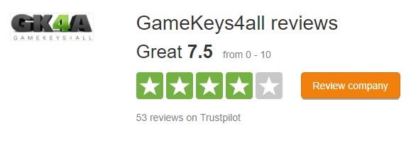 Gamekeys4All.com note trustpilot