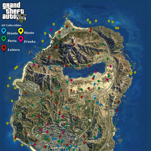 GTA 5 Map Collectibles