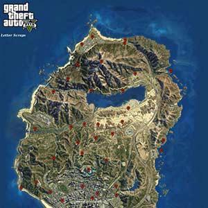 GTA 5 Map Letter Scraps