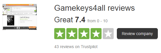 Gamekeys4all Reviews Customer Service Reviews of Gamekeys4all gamekeys4all.com