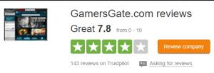 Gamersgate trustpilot