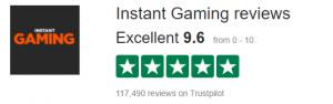Instant Gaming trustpilot