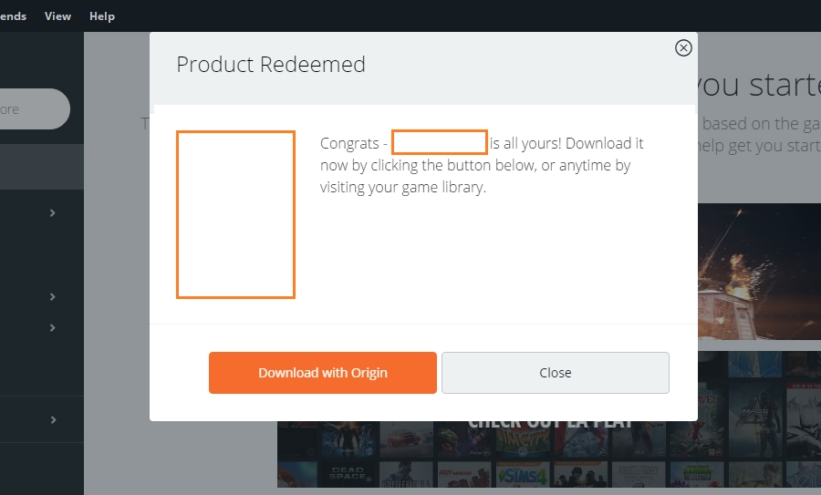 Product Redeemed