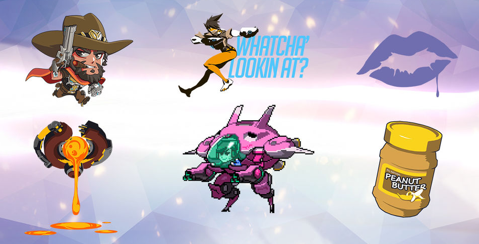 Overwatch Loot Box Sprays (Source: http://overwatch.wikia.com/)