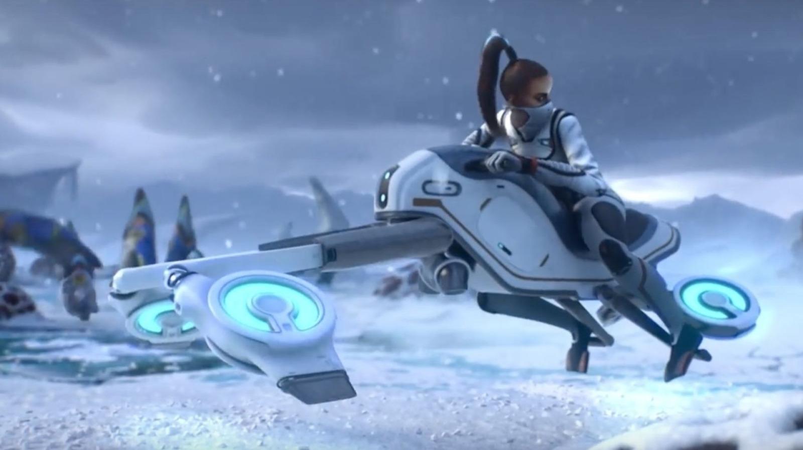 subnautica below zero snowfox hoverbike