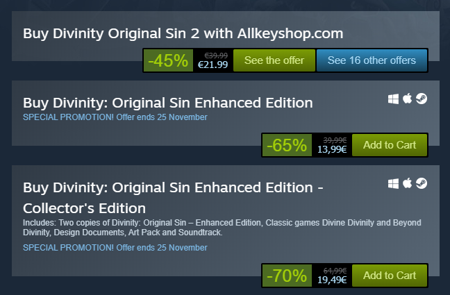 Buy Divinity Original Sin 2 with Allkeyshop.com