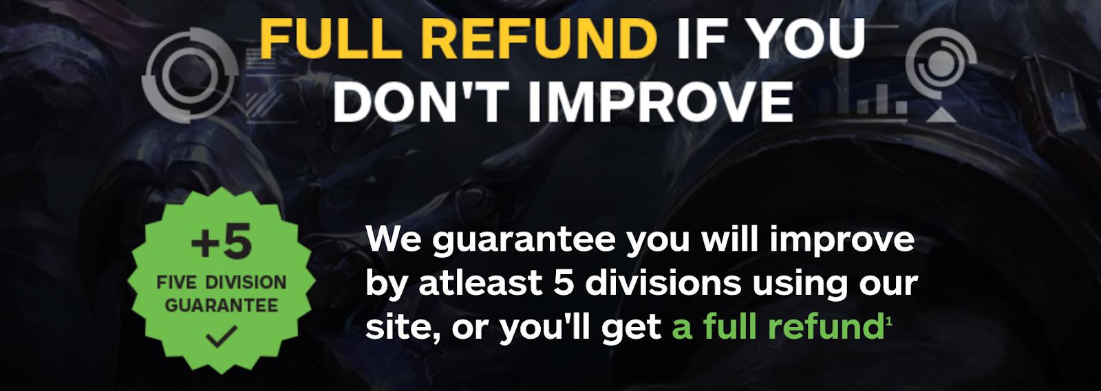 Skill Capped full refund guarantee