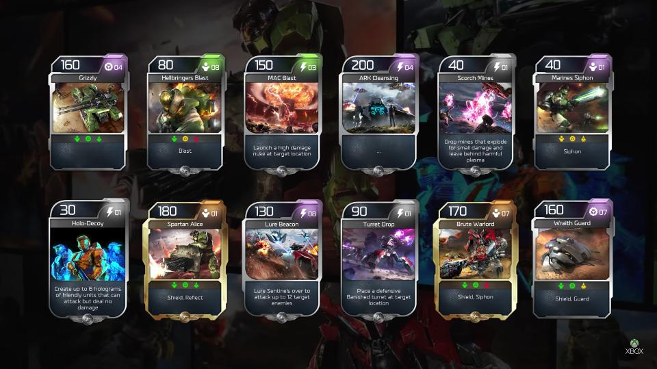 Halo Wars 2 Cards