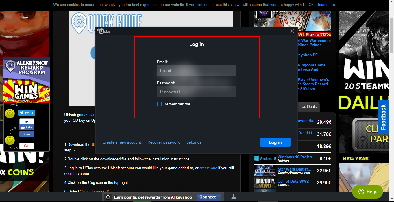 how to use uplay cd key