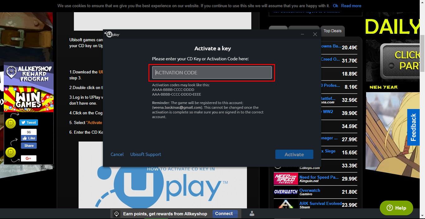 How to Activate a Uplay CD Key