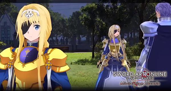Sword Art Online Alicization Lycoris new video