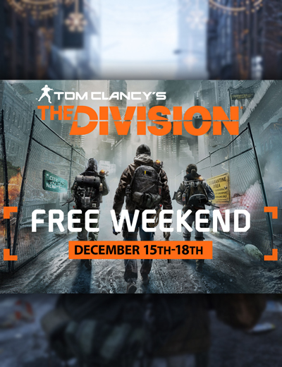 Play The Division Free on PC From December 15 to 18!