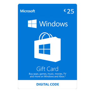 Buy Windows Store Gift Card 25 Euro GameCard Code Compare Prices