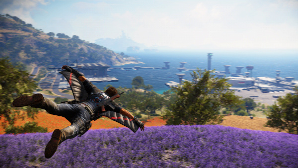Glide through the Just Cause 3's open-world environment in your awesome wingsuit!