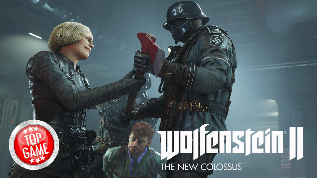 Wolfenstein 2 The New Colossus Gameplay Trailer Cover