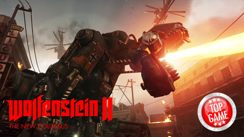Wolfenstein 2 The New Colossus Launch Trailer Cover