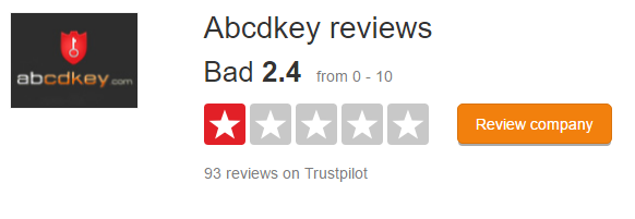 Abcdkey trustpilot