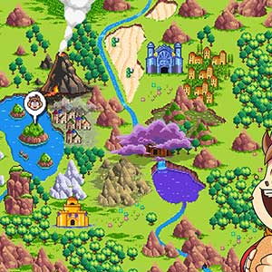 Alex Kidd in Miracle World DX - World Map