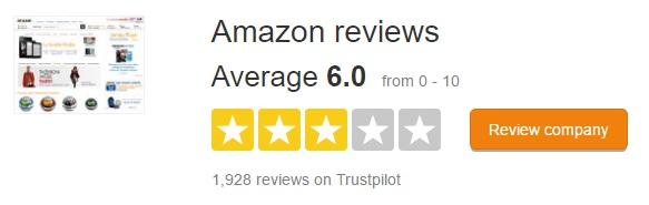 Amazon.fr trustpilot