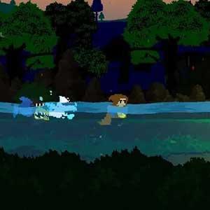Swim fast crocodile behind