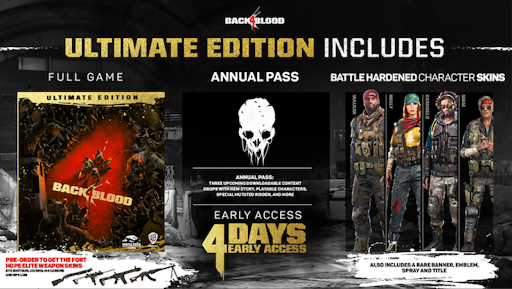 back 4 blood ultimate editions contents