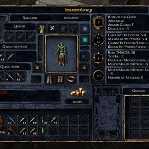 Baldur's Gate Enhanced Edition Player Inventory
