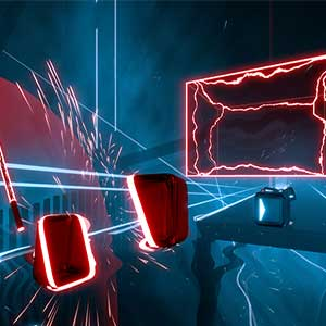 Beat Saber block slashing