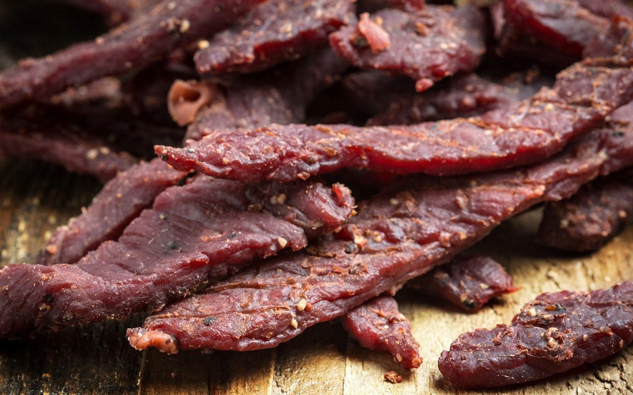 Low-sodium low-sugar lean beef jerky